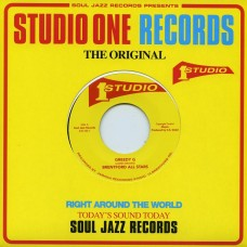 "Brentford All Stars / Im and Sound Dimensi : Greedy G / Love Jah (7"") (7"" Single) (Reggae and Dub)"