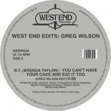"Various (2X12"") :  West End Edits: Greg Wilson (Inc. B.T. (12"" Vinyl) (Disco)"