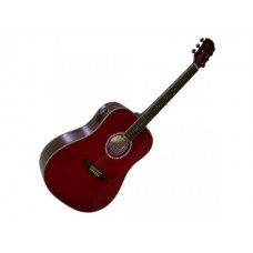Monterey Acoustic Pack Red w/Tuner : Guitar Acoustic (MUSICAL INSTRUMENT) (Musical Instrument)