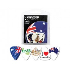 Aussie Aussie Oi! Picks (5pk) : Guitar Picks (Guitar Picks) (Accessories)